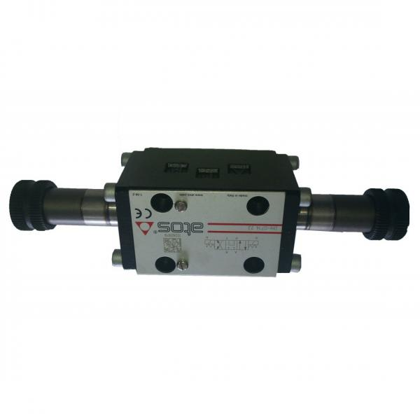 Hyd Monoblock Valve 2 Bank 3/8 BSP 40 l/m D/A Cyl Spool 3 Pos 12V DC Solenoid Ct
