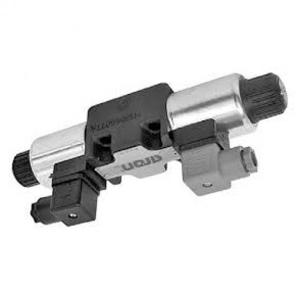 Hyd Monoblock Valve 3 Bank 1/4 BSP 20 l/m D/A Cylinder Spool, 12V DC Solenoid Cn